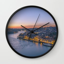 The view from Serra do Pilar - Porto and Gaia Wall Clock