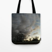 twilight Tote Bags featuring Twilight. by Mikhail Zhirnov