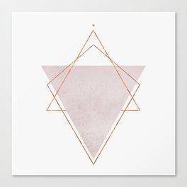 BLUSH COPPER ROSE GOLD GEOMETRIC SYNDROME II Canvas Print