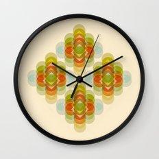 60's Pattern Wall Clock