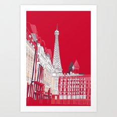 Glorious Paris - Red Art Print