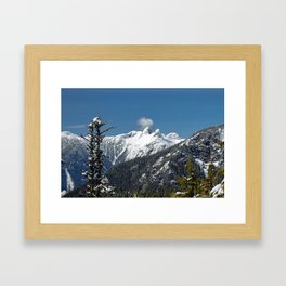 View at  Lions Peaks from Grouse Mountain Framed Art Print