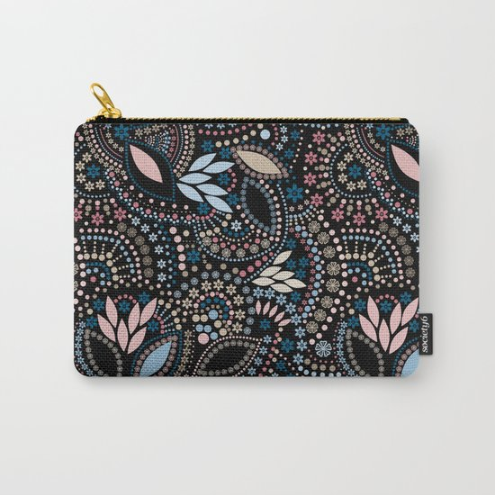 Abstract pattern with beads on black Carry-All Pouch