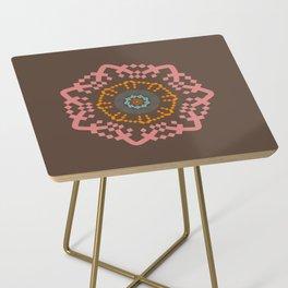 Aztec Mandala Side Table