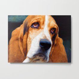 Sad dog Metal Print