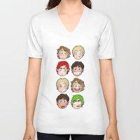 talking heads V-neck T-shirts featuring Heads by gabitozati