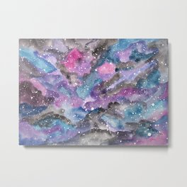Watercolor Galaxy Metal Print