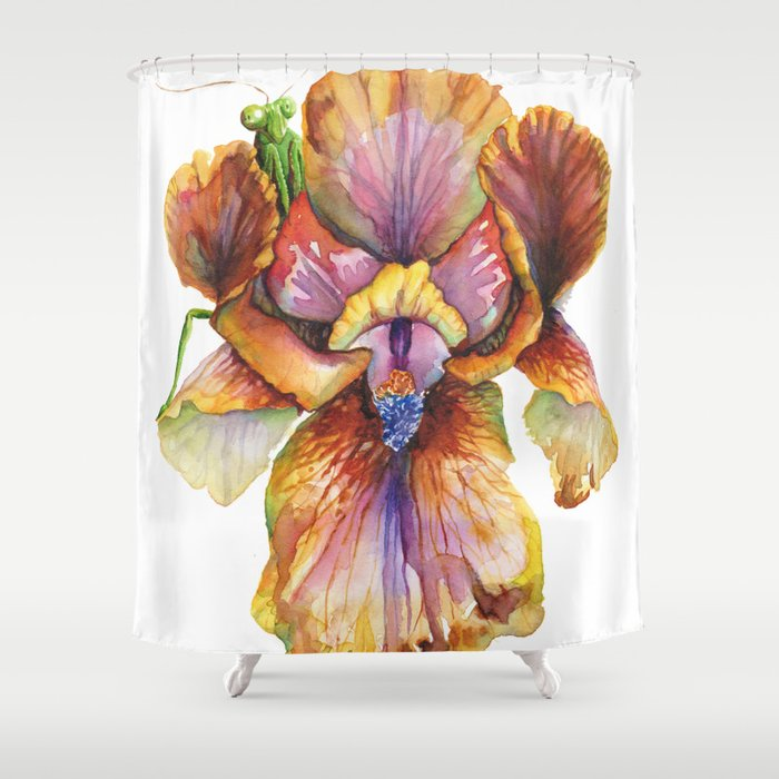 Lord of the Iris Kingdom Shower Curtain