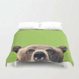 Bear - Green Duvet Cover
