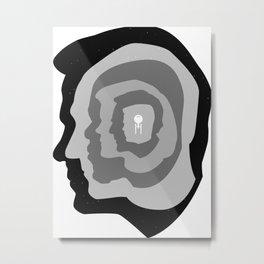 Star Trek Head Silhouettes Metal Print