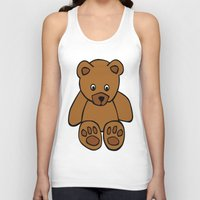 teddy bear Tank Tops featuring Teddy Bear by ArtSchool