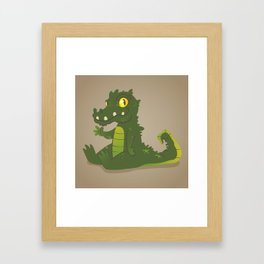 Baby Crocodile Framed Art Print