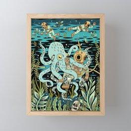 Diver Framed Mini Art Print
