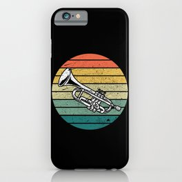 Vintage Trumpeter Retro Musician Trumpet Gift Idea iPhone Case