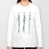 fashion illustration Long Sleeve T-shirts featuring Fashion Illustration by Anukriti Goswami