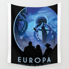 NASA Visions of the Future - Europa: Discover Life Under the Ice Wall Tapestry