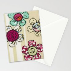 Embroidered Flower Illustration Stationery Cards