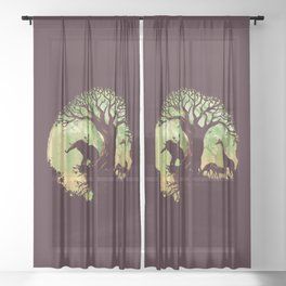 The jungle says hello Sheer Curtain