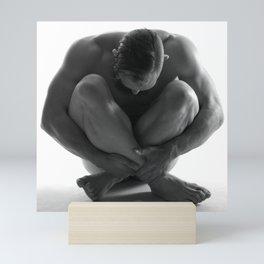 Male Nude Squared Pt.7 Mini Art Print