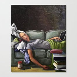 Death of a Student Canvas Print