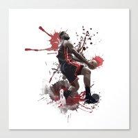 lebron Canvas Prints featuring LeBron 6 by Asta Dagmar
