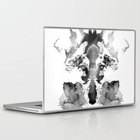 watchmen Laptop & iPad Skins featuring Rorschach by Robert Farkas