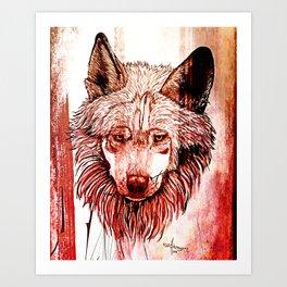 Alpha: Red Art Print