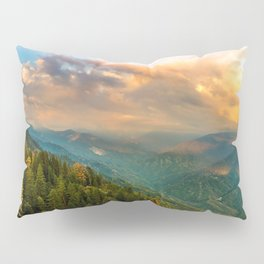 California USA Kings Canyon National Park Nature Mountains park Forests landscape photography Clouds mountain Parks forest Scenery Pillow Sham