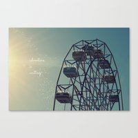 coasters Canvas Prints featuring Adventure is Waiting by RDelean