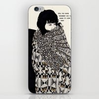 gorillaz iPhone & iPod Skins featuring Why You Wanted To Be ? by Kaethe Butcher