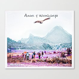 In Awe and Wonder I look upon the World Canvas Print