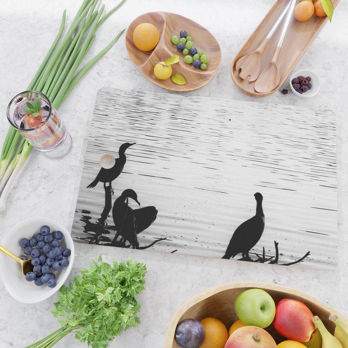 Perching Birds Cutting Board