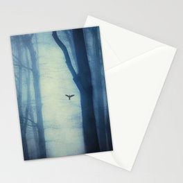 waning lines - trees in fog Stationery Cards