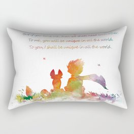 Little Prince Fox Rectangular Pillow