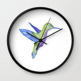 Les Animaux: Hummimgbird Wall Clock