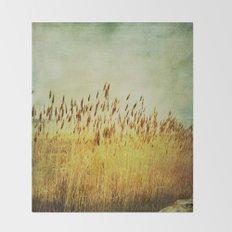 Winter Gold Throw Blanket