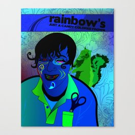 Candy Colored Frown Canvas Print