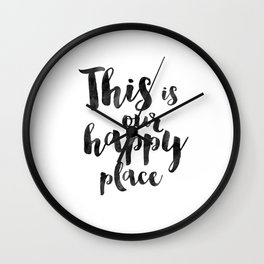 OUR HAPPY PLACE, This Is My Happy Place,Living Room Decor,Home Decor,Home Gifts,Home Sign,Bedroom De Wall Clock