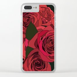 Roses & Bones Clear iPhone Case