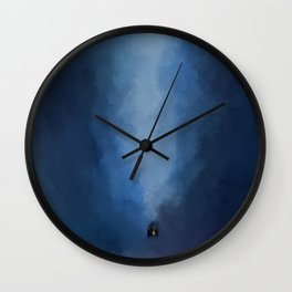 Cabin In Blues Wall Clock