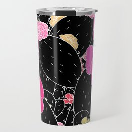 Cactus Flowers (Black and white) Travel Mug