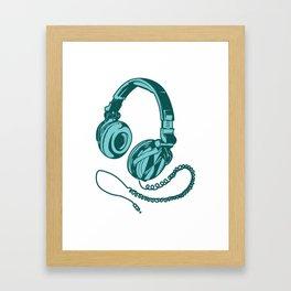 Headphone Headset Music Gaming Song Song Gift Framed Art Print