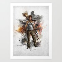 tomb raider Art Prints featuring Tomb Raider Reborn... by 187designz