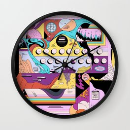 Daily stress and comfort Wall Clock
