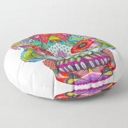 Hummingbird Skull II Floor Pillow