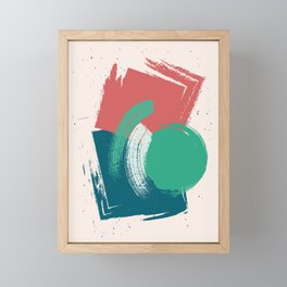 Mint Blue Pumpkin Abstract Illustration in pastel colors-1, Framed Mini Art Print