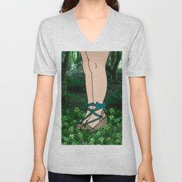 Stroll in an Irish Forest Unisex V-Neck