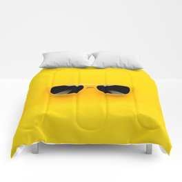 san glasses Yellow Comforters