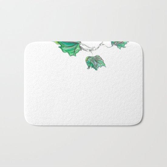 Sycamore 01 Botanical Flower Bath Mat