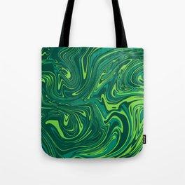 Toxic green mable Tote Bag